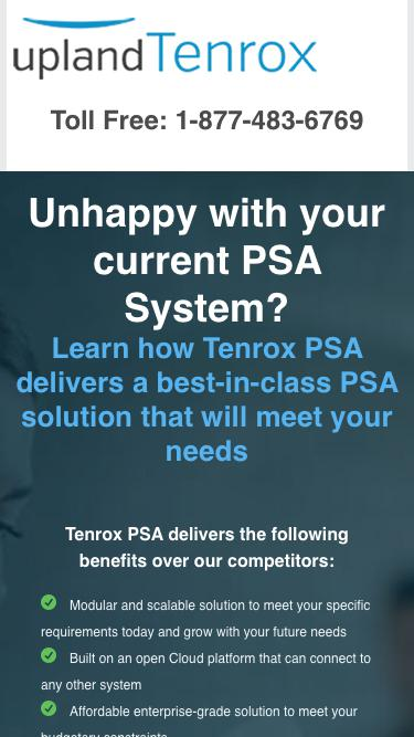 Request a Tenrox PSS Demo