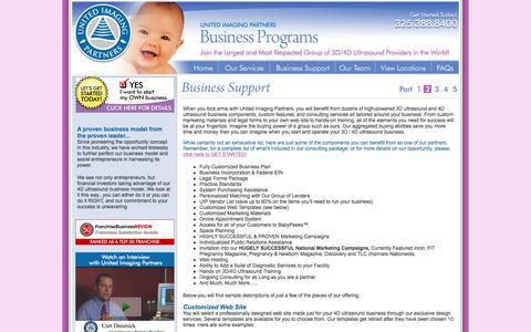 Screenshot of Support Page unitedimagingpartners.com - 3D Ultrasound Franchising - 4D Ultrasound Franchising - Franchise Opportunity - United Imaging Partners - - captured Feb. 23, 2016