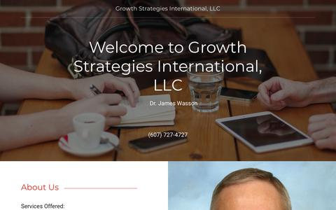 Screenshot of Home Page growth-strategies-intl.com - Growth Strategies International, LLC - captured Sept. 30, 2018
