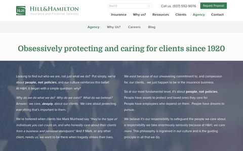 Screenshot of About Page Team Page hillandhamilton.com - Agency - captured Feb. 21, 2017