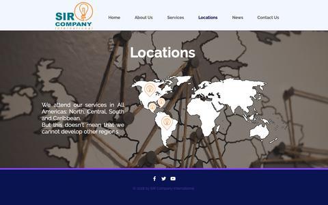 Screenshot of Locations Page sirinternational.com - Sirinternational | Locations - captured Sept. 30, 2018