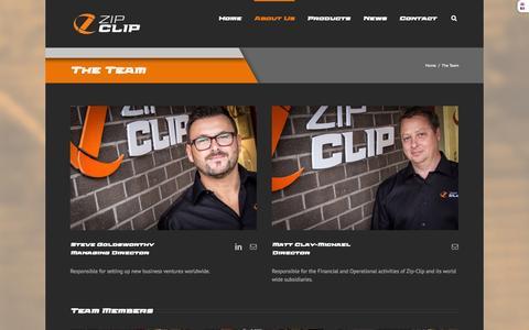 Screenshot of Team Page zip-clip.com - The Team | zip-clip - captured Nov. 3, 2014
