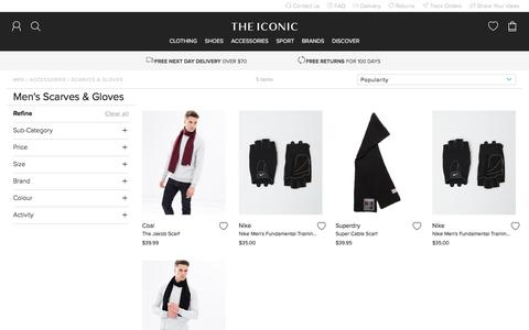 Men's Scarves & Gloves | Buy Men's Scarves & Gloves Online - THE ICONIC