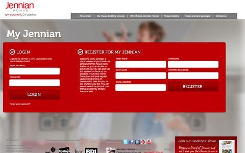 Screenshot of Login Page jennian.co.nz - Jennian Homes- Login - captured Oct. 4, 2014