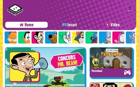 Screenshot of Home Page boomerang-tv.ro - Boomerang | Desene animate, spectacole, jocuri şi imagini video - captured Nov. 8, 2018