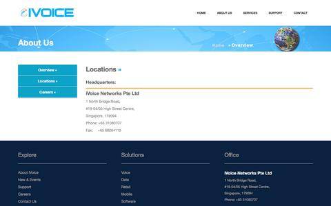 Screenshot of Locations Page ivoice.sg - iVoice Networks- Communication without Borders - captured Nov. 26, 2016