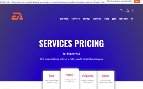 Screenshot of Pricing Page eadesign.ro - Services pricing  Magento Development - captured Oct. 21, 2018