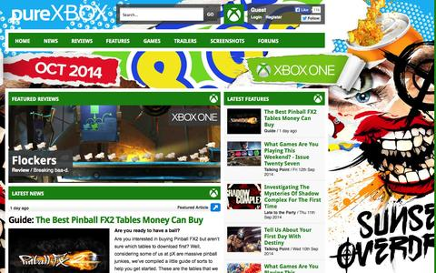 Screenshot of Home Page purexbox.com - Xbox One News, Xbox 360 Reviews, Features, Screenshots & Trailers - Pure Xbox - captured Sept. 19, 2014