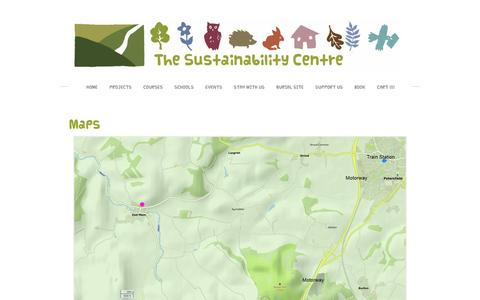 Screenshot of Maps & Directions Page sustainability-centre.org - Map - SUSTAINABILITY CENTRE - captured Feb. 28, 2016