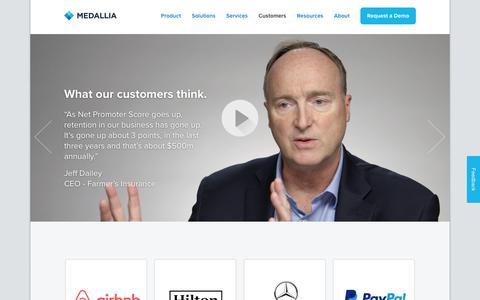 Customers. | Medallia