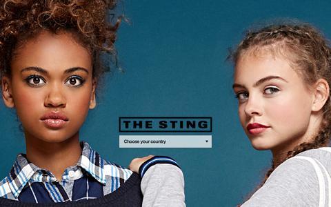 Screenshot of Home Page thesting.com - The Sting   Online Fashion Shop - captured Nov. 12, 2015