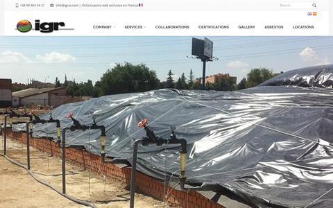 Screenshot of Locations Page igrsa.com - IGR SA | Gestión de residuos, amianto, fibrocementos, uralita. - captured Feb. 2, 2016