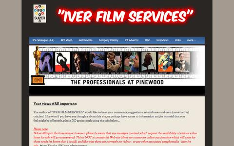 """Screenshot of Contact Page iverfilmservices.com - Contact Us - """"Iver Film Services"""" - captured Feb. 15, 2018"""