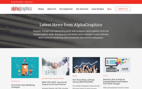 Screenshot of Blog agnortheast.com - Creative Marketing Blogs | AlphaGraphics - captured Oct. 3, 2018