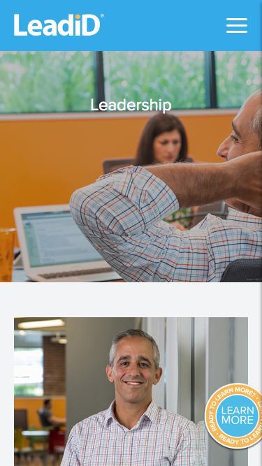 Screenshot of Team Page  leadid.com - Executive Leadership | Management | LeadiD