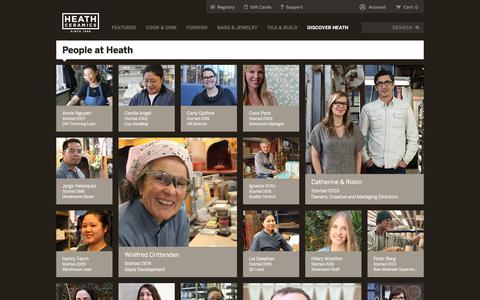Screenshot of Team Page heathceramics.com - People - Heath Ceramics - captured July 17, 2018
