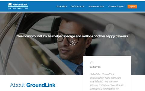 Screenshot of About Page groundlink.com - Guaranteed On Time Car Service & Limo Service - GroundLink About Us - captured May 9, 2017