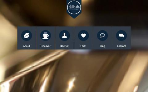 Screenshot of Home Page hathatscoffee.com - HatHats Coffee Company - captured Jan. 26, 2016