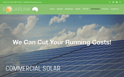 Screenshot of Case Studies Page solarlinkaustralia.com.au - Commercial – Solar Link Australia - captured Sept. 21, 2018