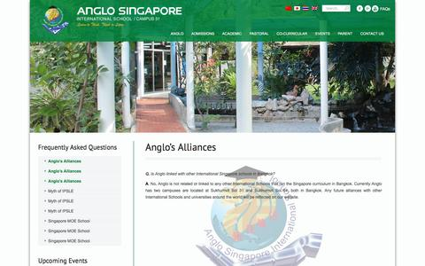 Screenshot of FAQ Page anglosingapore.ac.th - Anglo's Alliances   Anglo Singapore International School - captured April 1, 2016