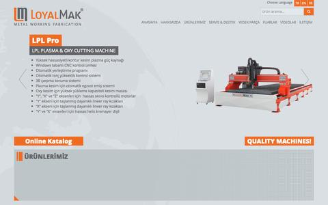 Screenshot of Home Page loyalmakina.com - Loyal Makina - captured Oct. 1, 2014