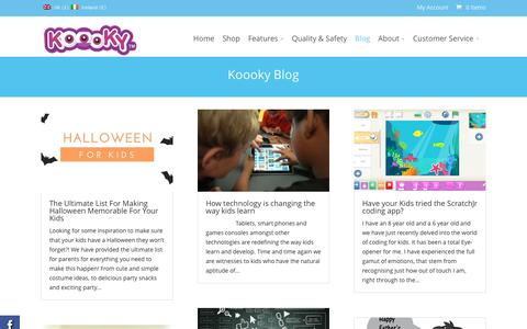 Screenshot of Blog koooky.com - Ipad tips for Kids | Best Apps for Kids | Ipad Saftey for Kids - captured Jan. 9, 2016