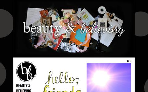Screenshot of Blog philosophy.com - beauty & believing | a blog designed to help you live a better life by being better to yourself - captured Sept. 19, 2014