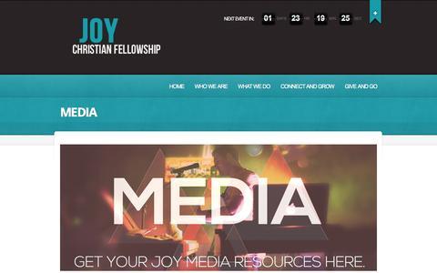 Screenshot of Press Page joychristianfellowship.com - MEDIA  |  Joy | Where community happens - captured Sept. 30, 2014