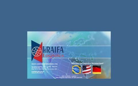 Screenshot of Home Page hraifa.com.br - HRAIFA LOGÍSTICA INTERNACIONAL | IMPORTAÇÃO | EXPORTAÇÃO | COMÉRCIO EXTERIOR - captured Feb. 1, 2016