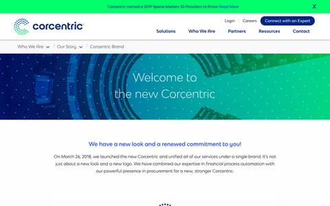 Screenshot of About Page corcentric.com - Corcentric Brand | Corcentric - captured Nov. 27, 2019