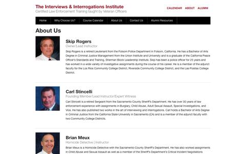 Screenshot of About Page getconfessions.com - About Us - The Interviews & Interrogations Institute - captured Oct. 6, 2014
