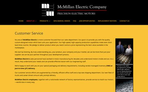 Screenshot of Support Page mcmillanelectric.com - OEM Electric Motor Manufacturer | McMillan Electric Teamwork | McMillan Electric - captured Nov. 28, 2016