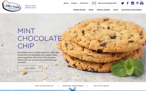 Screenshot of Home Page cookiedelivery.com - Tiff's Treats - captured Nov. 28, 2016