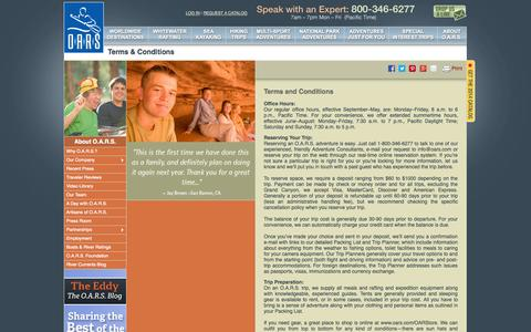 Screenshot of Terms Page oars.com - O.A.R.S. - captured Sept. 19, 2014