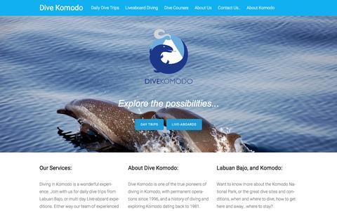 Screenshot of Home Page divekomodo.com - DIve Komodo - captured Jan. 7, 2016