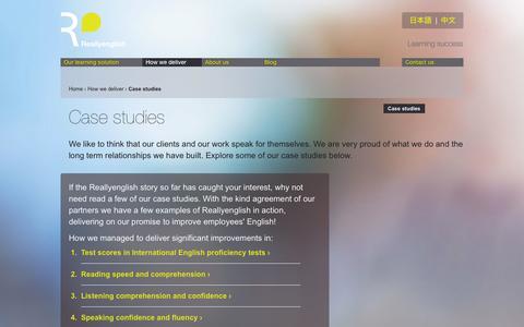 Screenshot of Case Studies Page reallyenglish.com - Case studies « Reallyenglish - captured Oct. 26, 2014