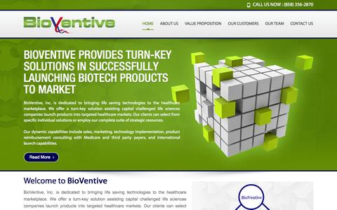 Screenshot of Home Page bioventive.com - BioVentive | BioVentive - captured Oct. 5, 2014