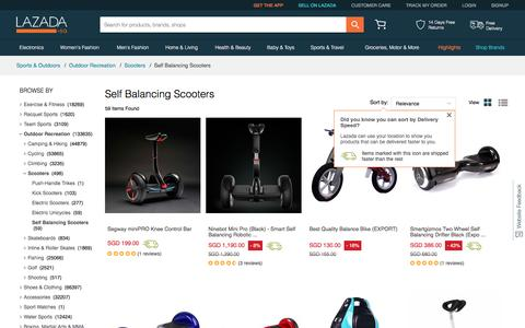 Self Balancing Scooters price in Singapore - Buy best Self Balancing Scooters online  | www.lazada.sg