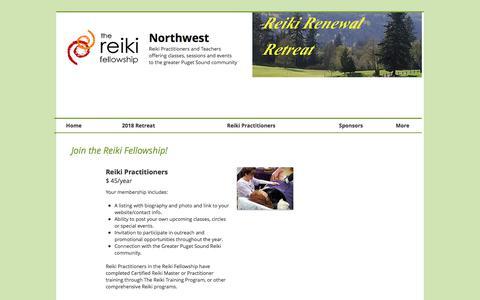 Screenshot of Signup Page reikifellowship.com - Reiki Fellowship | Join - captured Feb. 7, 2018