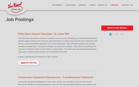 Screenshot of Jobs Page vankeppel.com - Job Postings | Van Keppel Company - captured Oct. 19, 2018