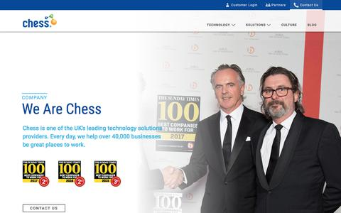 Screenshot of Contact Page chessict.co.uk - Chess - Company - captured Feb. 22, 2018