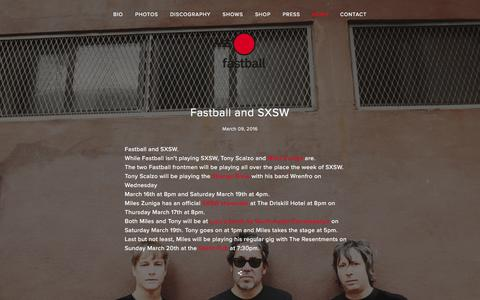 Screenshot of Press Page fastballtheband.com - Fastball The Band | News - captured March 10, 2016