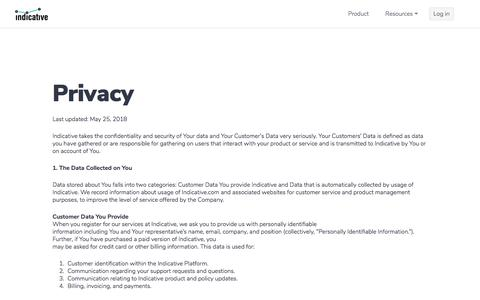Indicative » Privacy