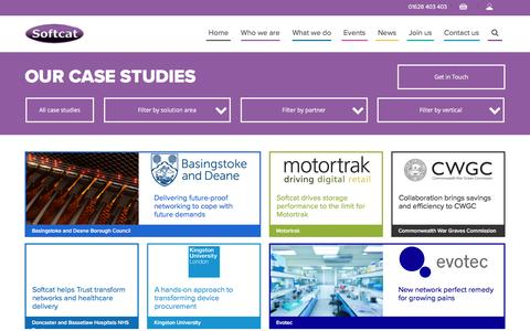 Screenshot of Case Studies Page softcat.com - Case studies | Softcat - captured Nov. 16, 2016