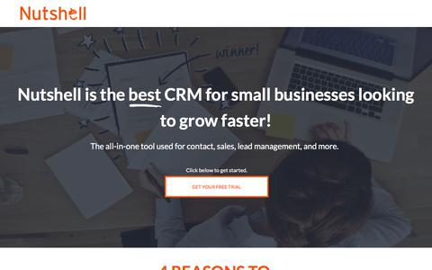 Screenshot of Landing Page nutshell.com - Nutshell | Small business CRM software for B2B sales teams - captured Sept. 19, 2018
