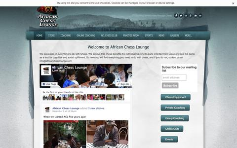 Screenshot of Home Page africanchesslounge.com - African Chess Lounge - Home - captured Dec. 24, 2015