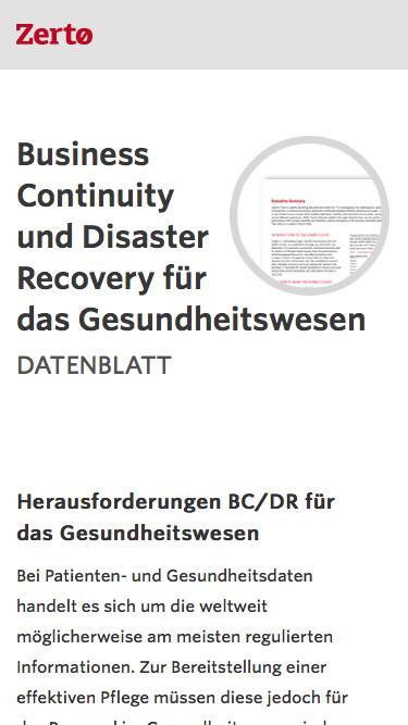 Business Continuity und Disaster Recovery für das Gesundheitswesen