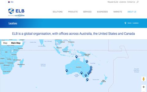 Screenshot of Locations Page electroboard.com.au - Locations - captured Sept. 26, 2018