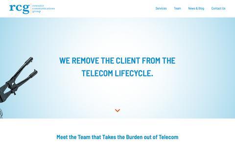 Screenshot of Team Page myrcg.com - Team | RCG | Resource Communications Group - captured Oct. 18, 2018