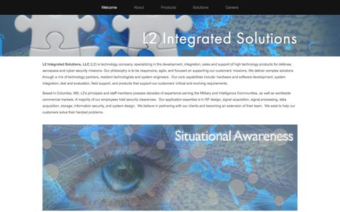 Screenshot of Home Page l2-is.com - L2 Integrated Solutions - captured Oct. 1, 2014